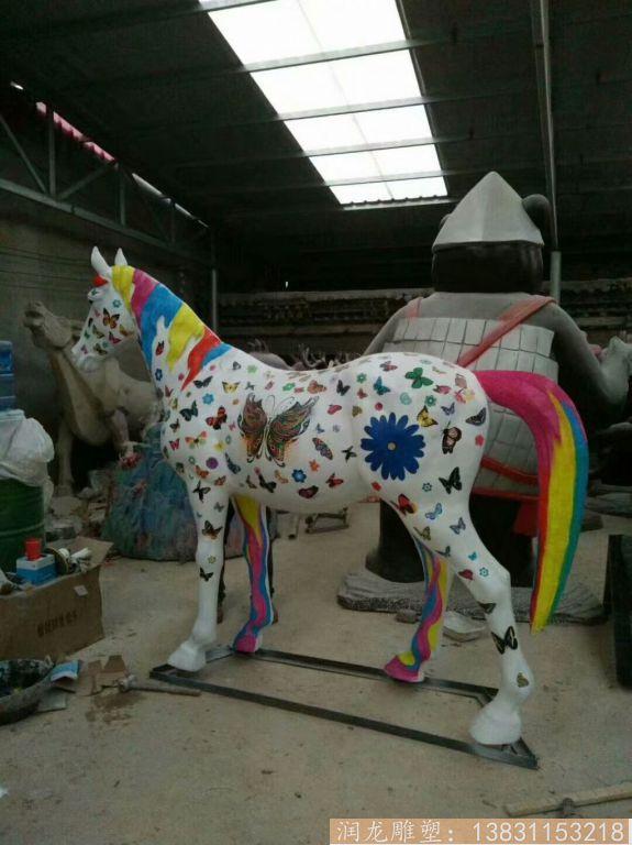 玻璃钢彩绘马